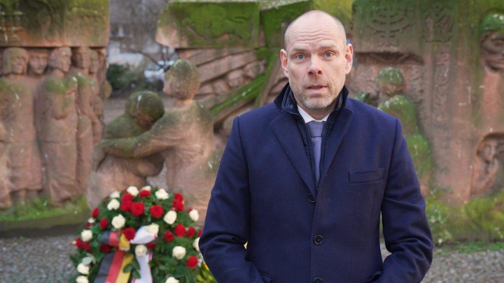 Dr. Axel Drecoll begrüßt zur digitalen Gedenkfeier 2021, Bild: Ständige Konferenz