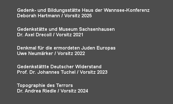 Ständige Konferenz - Mitglieder und Vorsitz